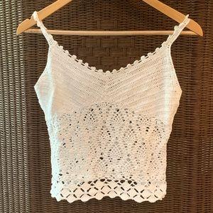 Express Boho-Festival Hand Knit Camisole/Tank